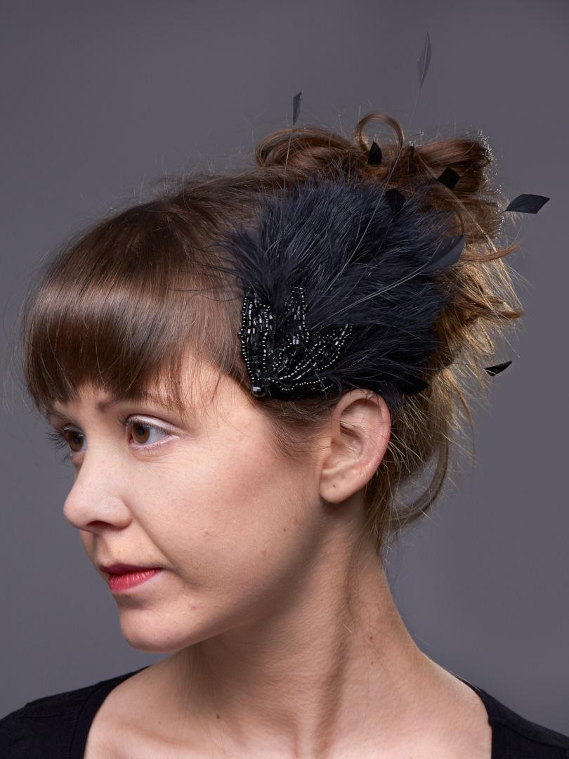 Feder-Perlen Headpiece